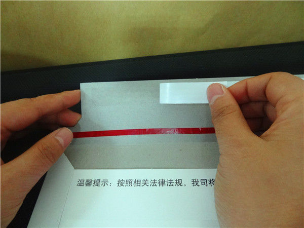 Tissue tape for express envelope sealing