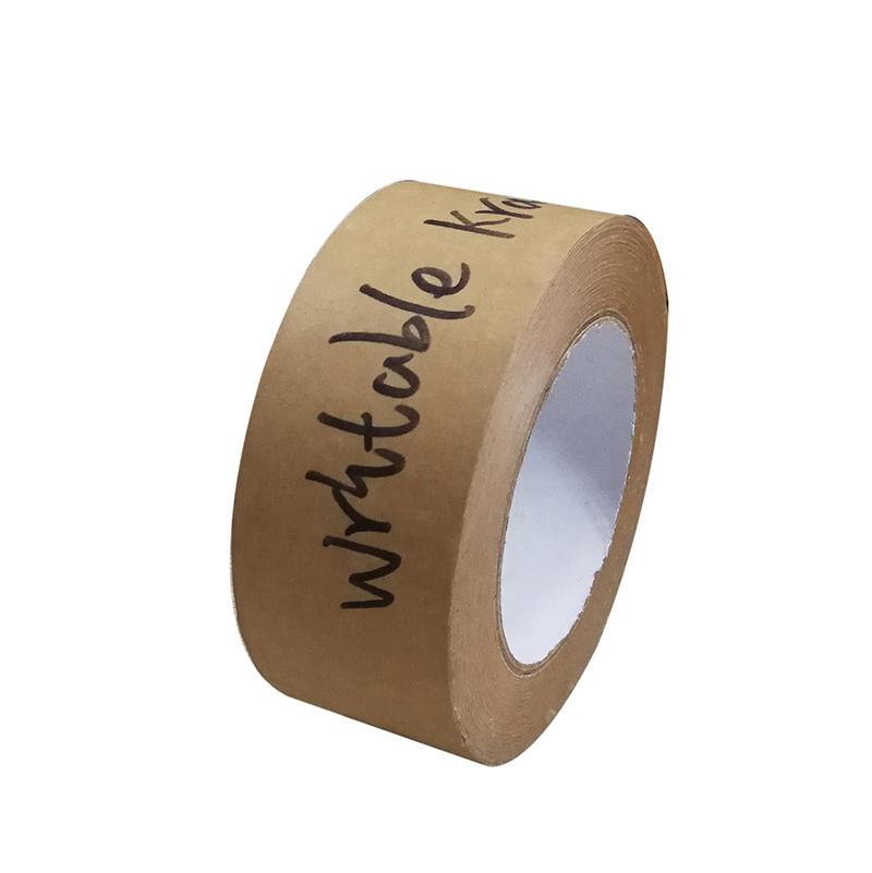 Eco- Friendly Writable Kraft Paper Gummed Tape For Sealing Cartons