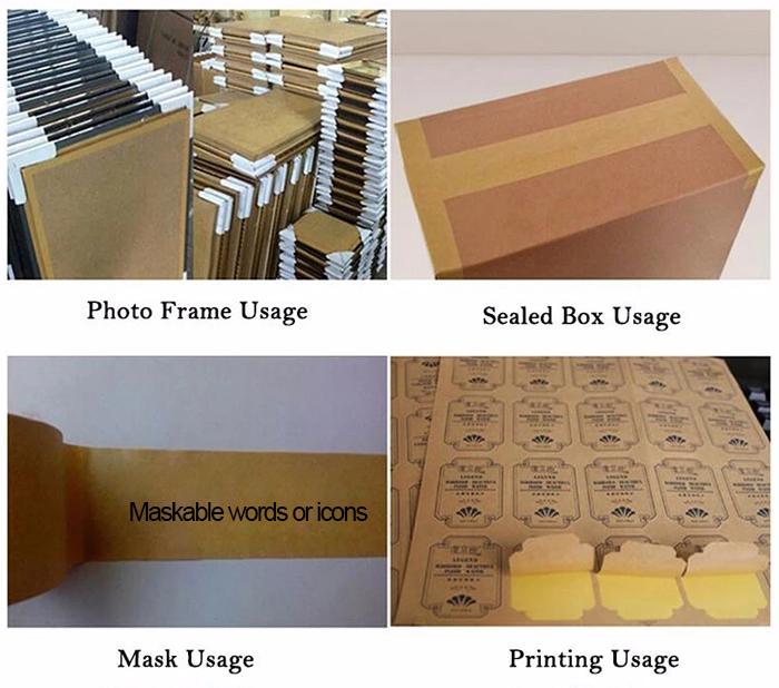 Application of Writable Kraft Paper Gummed Tape