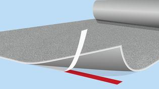 Efficient fixation of ground materials with double-sided tape